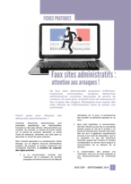 ARNAQUE : Attention aux faux sites administratifs