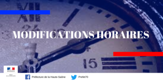 Modifications horaires du point numérique
