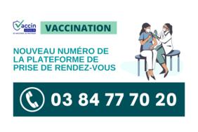 COVID-19   La plateforme d'appel pour les rendez-vous en centre de vaccination change de numéro!